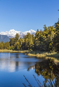 Deux pics le mont cook et le mont tasman ile sud nouvelle zelande