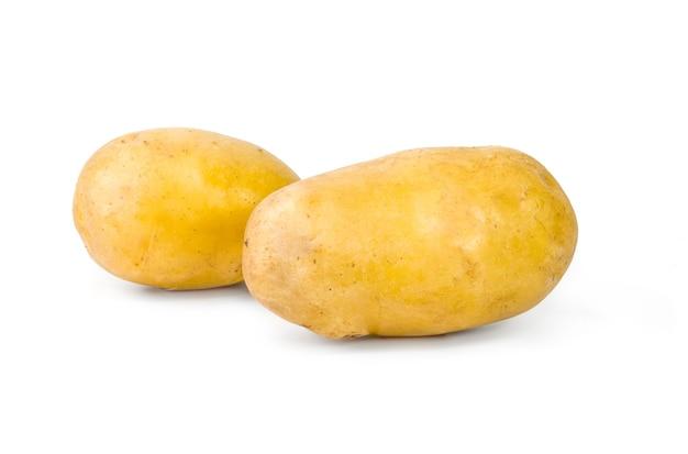 Deux pommes de terre isolées