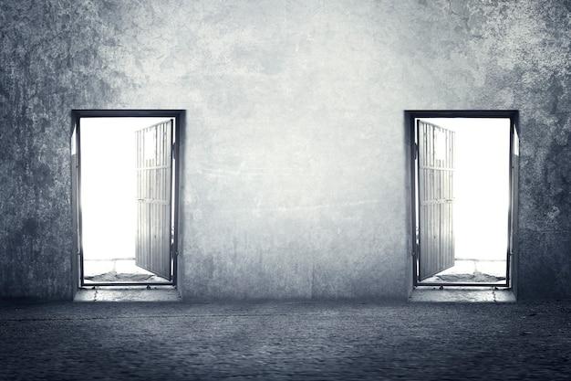Deux portes tout ce qui est une passerelle vers l'inconnu