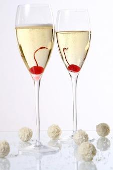 Deux verres de champagne