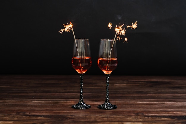 Deux verres à martini
