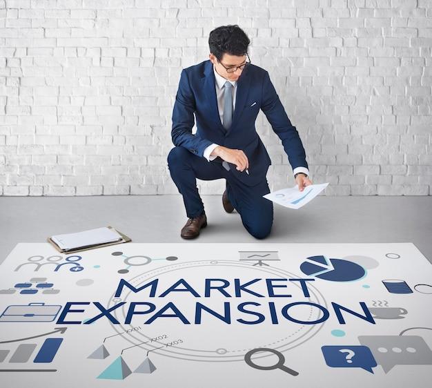 Développement des investissements commerciaux expansion du marché des entreprises