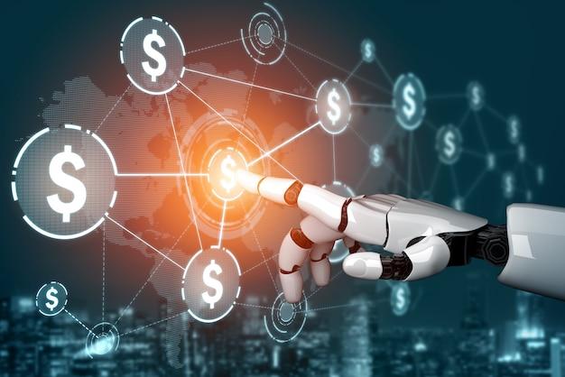 Développement De Technologie Robotique Futuriste De Rendu 3d, Intelligence Artificielle Ia Et Concept D'apprentissage Automatique Photo Premium
