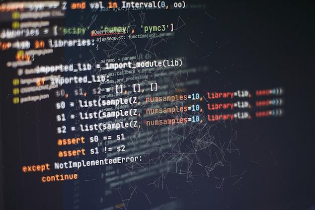 Développeur d'applications mobiles. projet de démarrage innovant. code de programmation de site web. entreprise informatique.