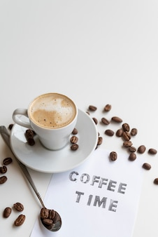 Devis café avec grains de café