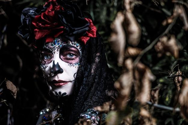 Dia de los muertos portrait d'une jeune femme