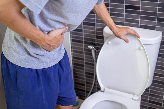 Diarrhée, concepts de maladies de l'estomac.