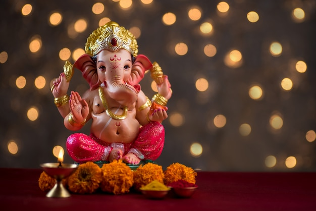 Dieu hindou ganesha, idole ganesha.