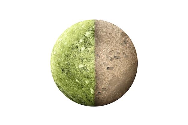 La différence entre un sol sec et un sol fertile sur le terrain sur la terre