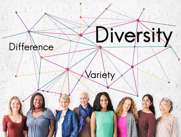 Différence variété diversité travail d'équipe réussite