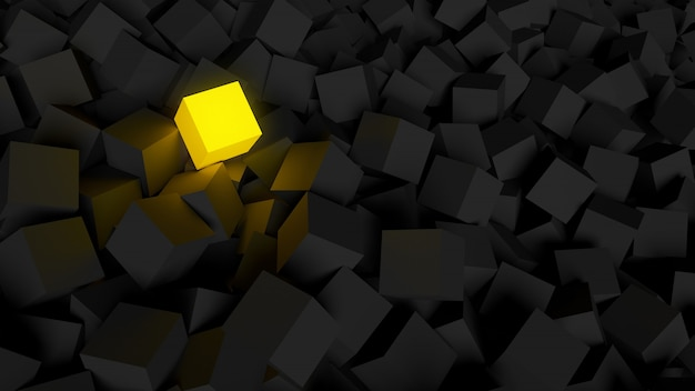 Différent, unique et se démarquant de la boîte brillante de la foule.