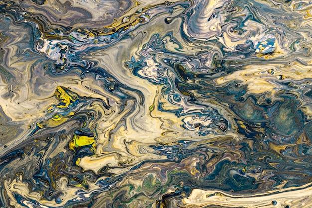 Différentes teintes colorées acrylique art contemporain