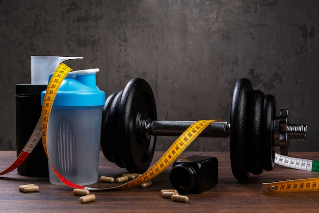 Différents articles de fitness