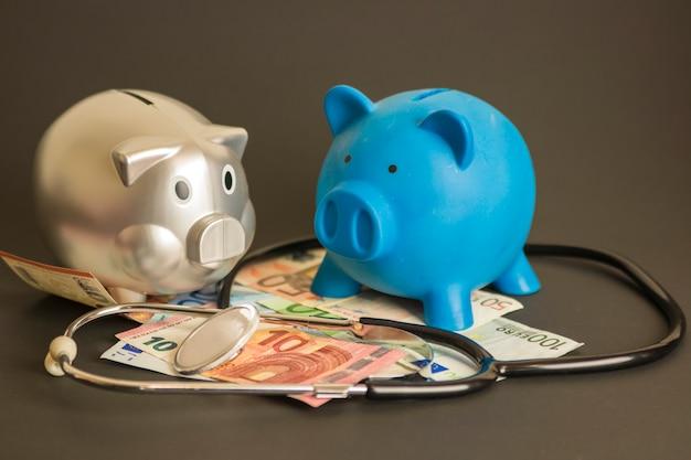 Différents billets de banque européens