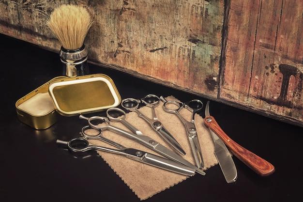 Différents équipements en salon de coiffure
