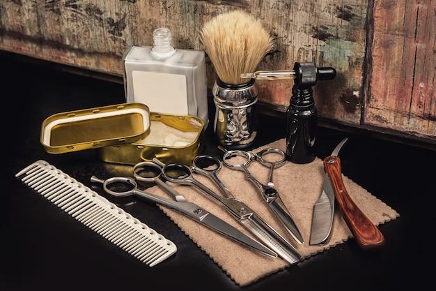 Différents équipements En Salon De Coiffure Photo Premium