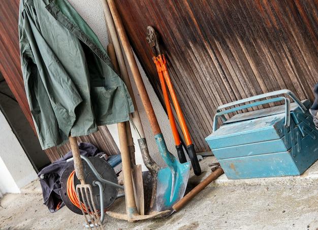 Différents outils pour la construction