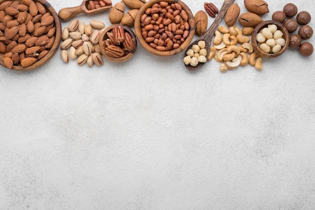 Différents types de cadre de noix