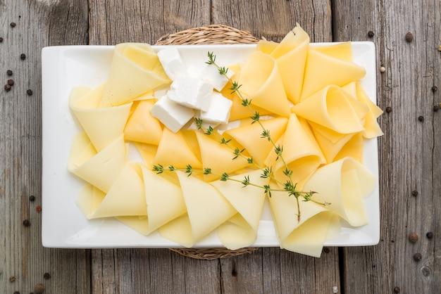 Différents types de fromage