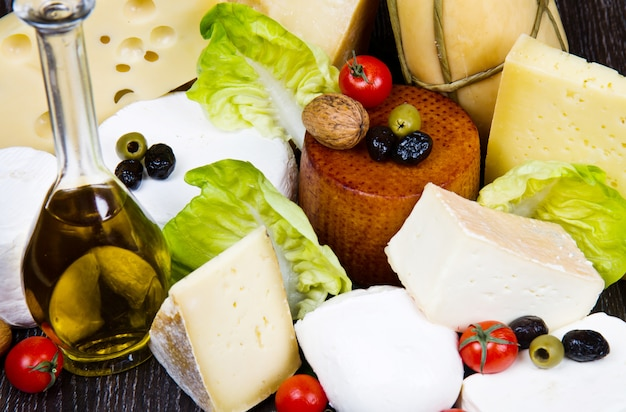 Différents types de fromages