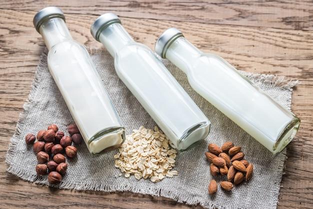 Différents types de lait non laitier