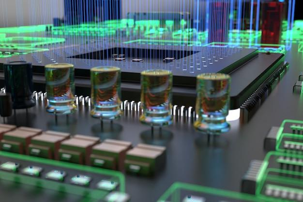 Différents types d'ordinateurs et de pièces détachées