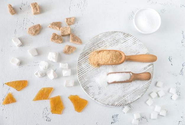 Différents types de sucre