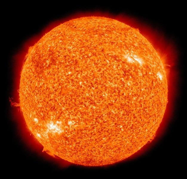 Dim. éruption solaire soleil boule de feu torche