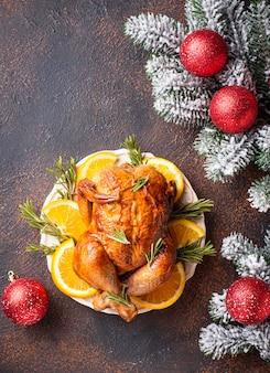 Dinde ou poulet au four pour les vacances