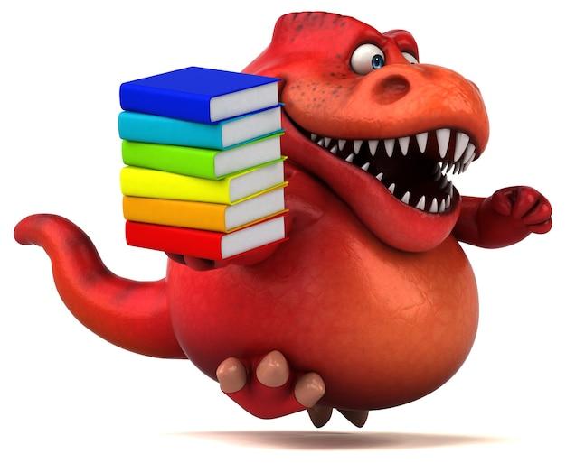 Dinosaure amusant - illustration 3d
