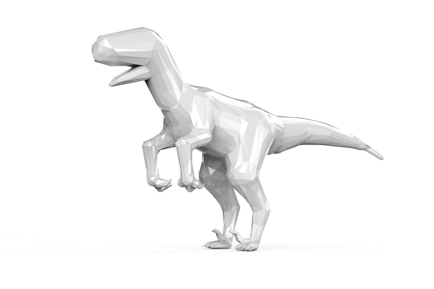 Dinosaure polygonale whire rendu 3d isolated on white
