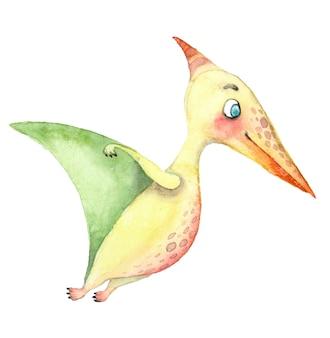 Dinosaures aquarelle ptérosaure