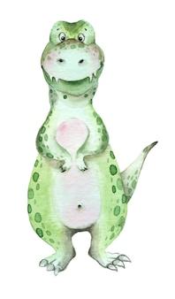 Dinosaures aquarelle tyrannosaure