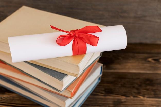 Diplôme d'études certificat vue haute
