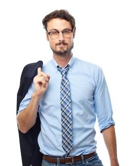 Directeur d'affaires visage de carrière costume