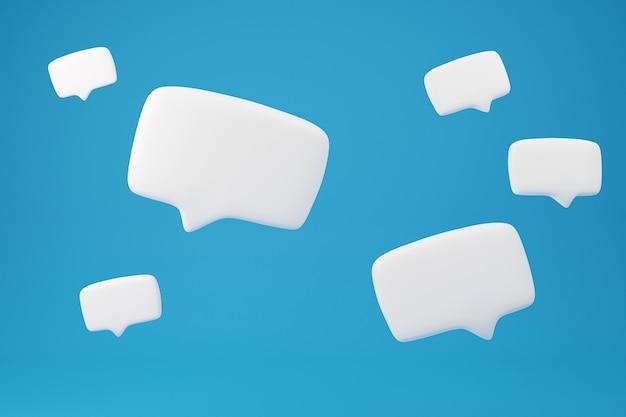 Discours de conversation de zone de texte double sur fond jaune