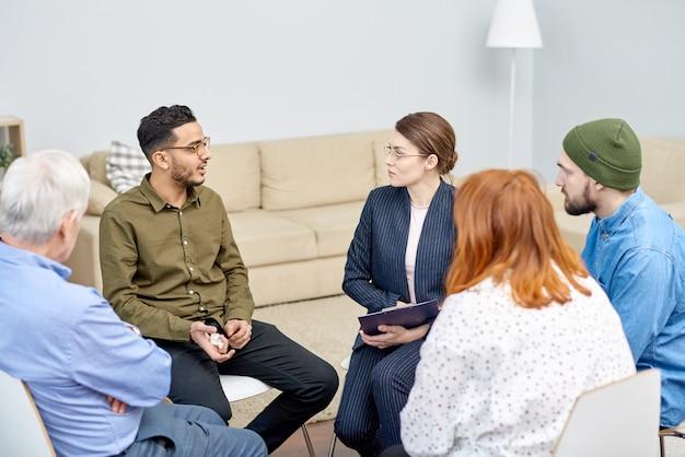 Discussion de problème avec le groupe de soutien