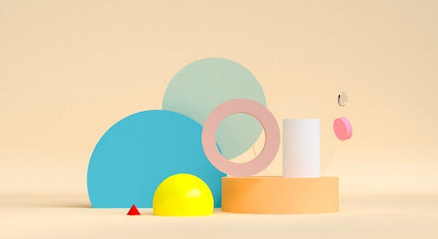 Disign abstrait géométrique pour le fond, rendu 3d, affiche de la tendance.