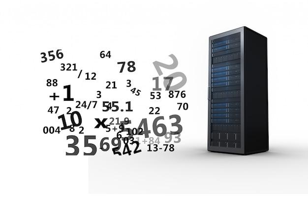 Dispositif avec des chiffres en l'air