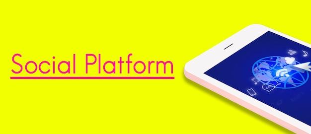 Dispositif de connexion numérique de technologie sociale internet