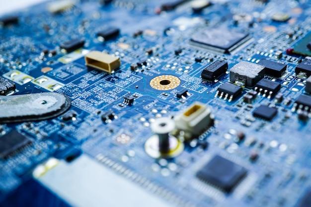 Dispositif électronique de carte mère de circuit informatique: concept de matériel et de technologie.