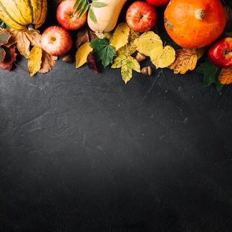 Disposition créative de la récolte d'automne