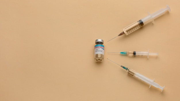 Disposition du flacon de vaccin covid19