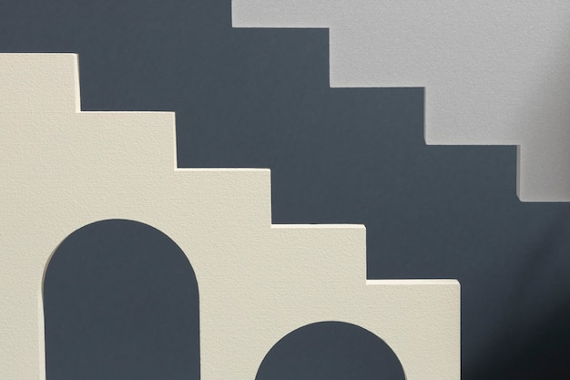 Disposition des éléments de conception 3d abstraits