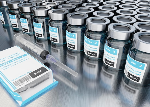 Disposition des flacons de vaccin à angle élevé