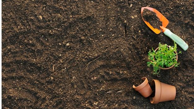 Disposition des outils au sol