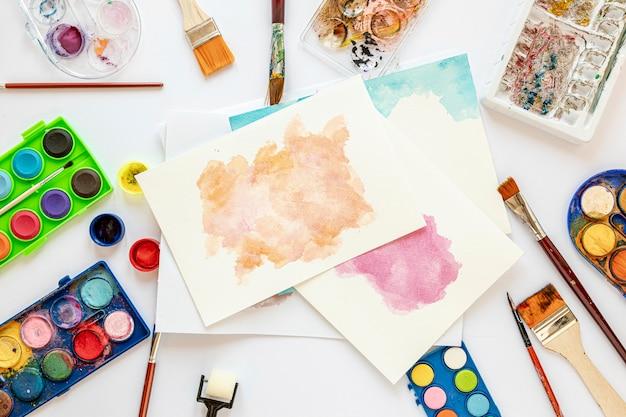 Disposition de la palette de couleurs dans des boîtes