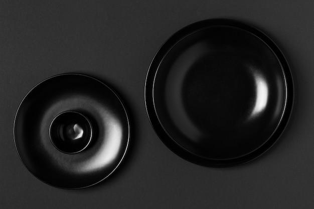 Disposition des plaques noires vue de dessus