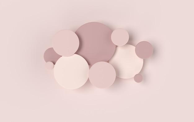 Disque rond abstrait panneau cellulaire moderne avec des cercles