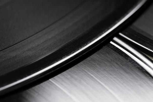 Disque vinyle avec assortiment de textures rétro